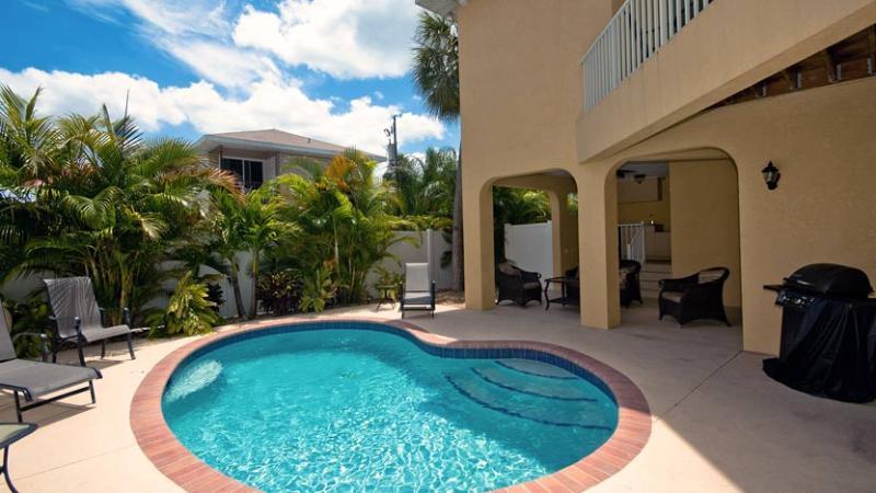 Tropical Pool - Carissa Villa 203: 3BR Family-Friendly Pool Home - Holmes Beach - rentals
