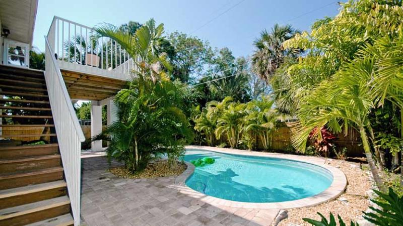 Tropical Landscaped Pool - Island Hideout West: 3BR Family-Friendly Pool Home - Holmes Beach - rentals