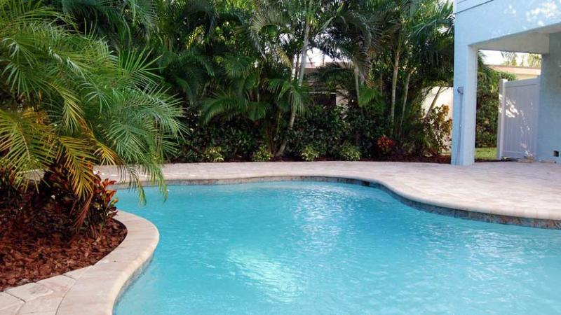 Private Pool with Tropical Setting - Beautiful Villa by the Sea: 4BR Pet-Friendly Pool Home - Holmes Beach - rentals