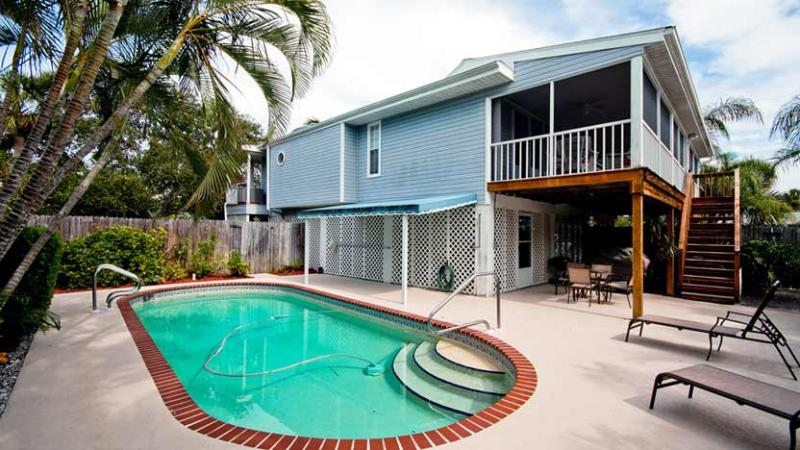 Heated Pool - Blue Palm: 2BR Pet-Friendly Pool Home near Beach - Holmes Beach - rentals
