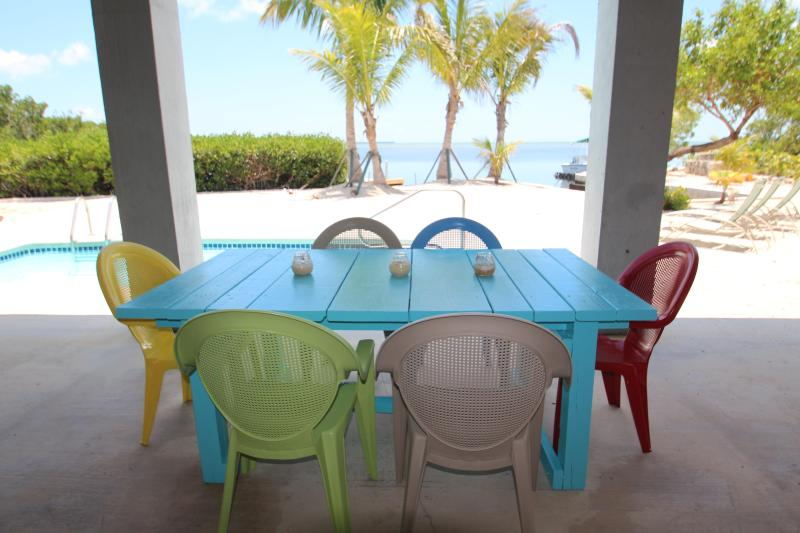 From under the house out to the Bay / Atlantic Ocean - Ocean Front-Heated Pool-View Over The Atlantic - Cudjoe Key - rentals
