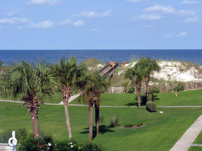 Gulf view from the 3rd floor screened porch - SPECIAL! 'A Beach Break' Sunsets,Pool,Pets,WiFi - Cape San Blas - rentals