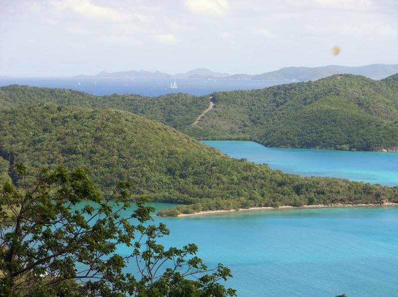 Stunning views of the Caribbean Sea, Hurricane Hole and the British Virgin Islands are the focus - Coral Bay Eco Retreat:Off the Grid, Hike to Beach! - Coral Bay - rentals