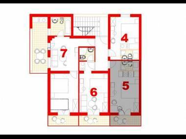 SA5(2): floor plan - 6064 SA5(2) - Makarska - Makarska - rentals