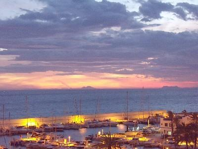 sunset from the balcony - Beach Front,Perfect Location,WIFI,Marbella,GM - Marbella - rentals