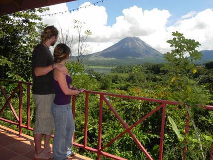 Guests Enjoying a Volcano View - HUMMINGBIRD NEST - El Castillo - rentals