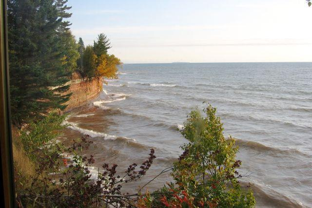 View of the bluffs and Lake Superior from our detached studio. - Lake Superior paradise - Lake Linden - rentals