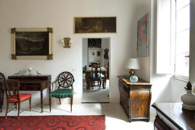 Overlooking Rome's Colosseum,  in the Monti Area  o Rome,a Splendid Art-filled Apartment, 2 Bedrooms 2 Baths, offers  Rome to the Connoisseur - Image 1 - Rome - rentals