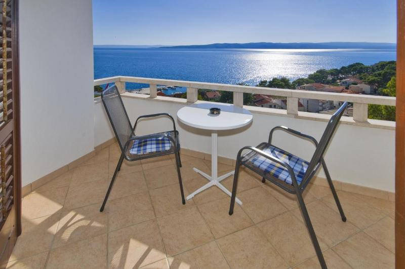 Balcony with a sea view - Dream vacation with beautiful sea view in Brela - Brela - rentals