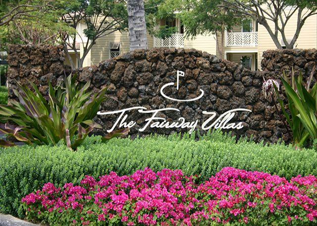 Entrance to Fairway Villas - Serene 2 Bedroom, 2 Bath Golf Course Condo Home in Waikoloa Beach Resort - Waikoloa - rentals