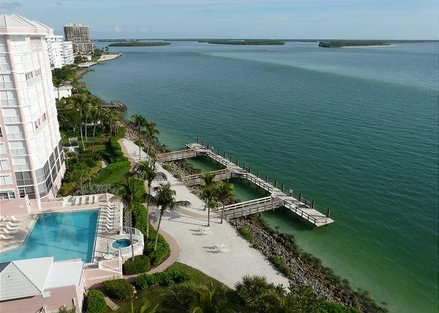 View from Balcony - Top floor beachfront condo with stunning ocean views, heated pool and hot tub - Marco Island - rentals