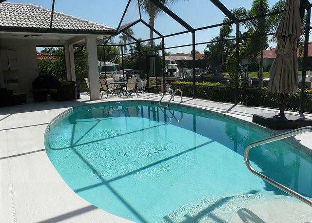Pool and Patio - 326 Polynesia Court - Marco Island - rentals