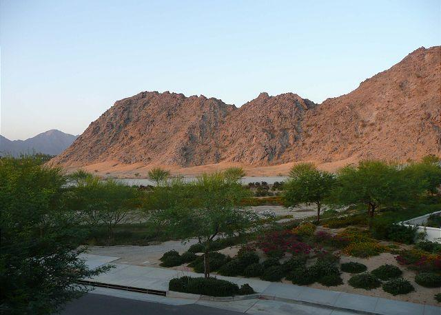 Sunset View from Patio - Perfectly Located  3 Bedroom Villa with Mountain Views - La Quinta - rentals