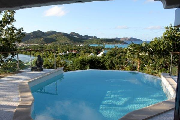 Contemporary villa with ocean views and sun all day long. WV ULU - Image 1 - Saint Jean - rentals