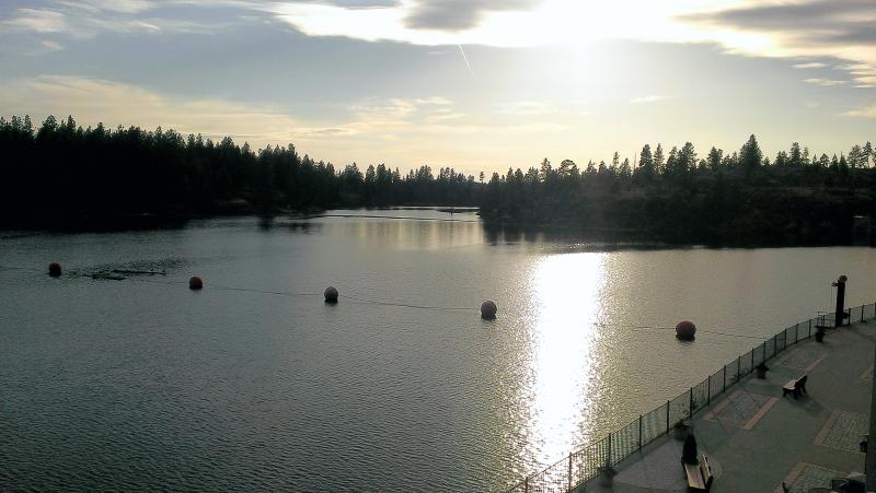 Sunset off the deck - Great Condo on Spokane River by Lake Coeur d'Alene - Post Falls - rentals