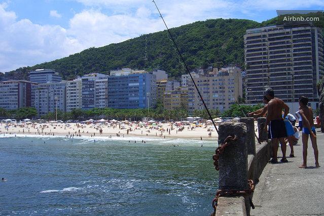 beach view from the fisherman way by the mountain - COPACABANA BEACH - Rio de Janeiro - rentals