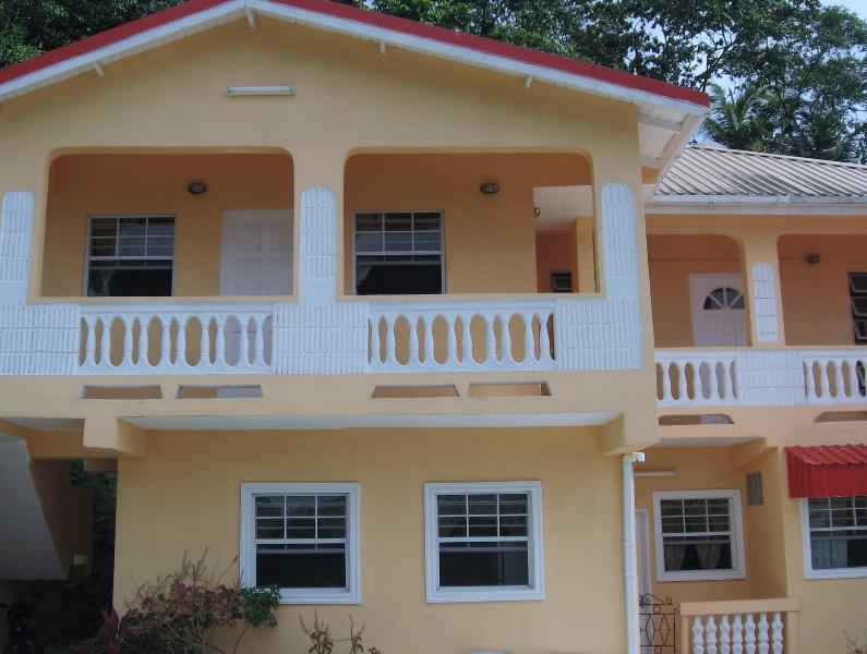 Front View of property (with view of the city) - HILLTOP VIEW APARTMENT - Castries - rentals