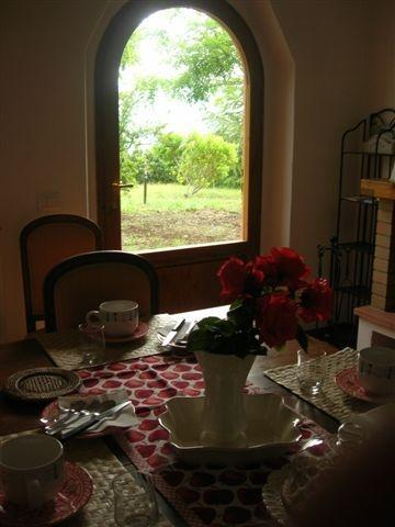 This is where you have your breakfast - Bed and Breakfast at Rosso del Chianti in Greve - Panzano - rentals