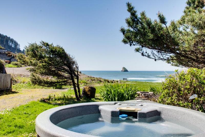 Spectacular beachfront dog-friendly cottage with private hot tub! - Image 1 - Cape Meares - rentals