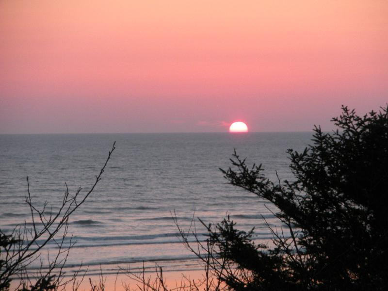 View from Patio at sunset - Coastal Breeze Ocean Views - Rest, Relax & Unwind - Moclips - rentals