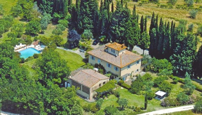 Aireal view of La Fonte - Pretty self catering apartment / private terrace: - San Gimignano - rentals