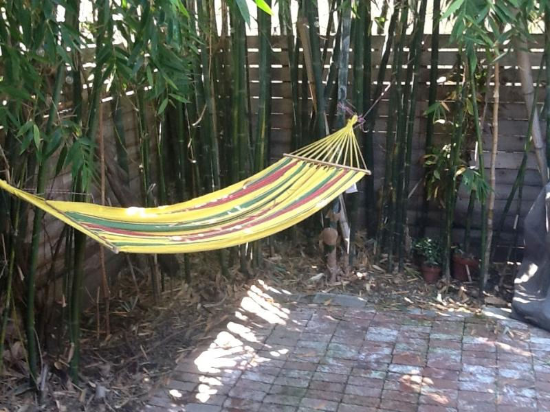 Your private bamboo patio--relax on hammock, grill, dine, etc - West Hollywood Bungalow Experience~BEST Location! - West Hollywood - rentals