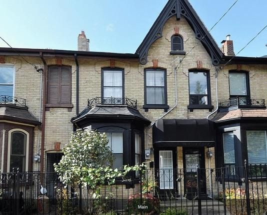 Victorian Home front view - 6 bedrooms  Luxury Victorian Townhouse in Downtown Toronto - Toronto - rentals