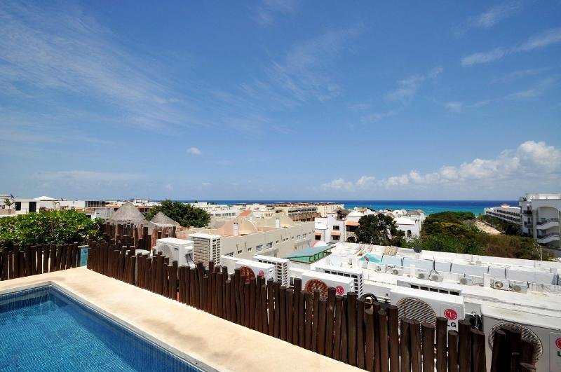 Nolita- Roof Pool & Lounge View - Playa del Carmen-Nolita- 5th Avenue Beach Condo - Playa del Carmen - rentals