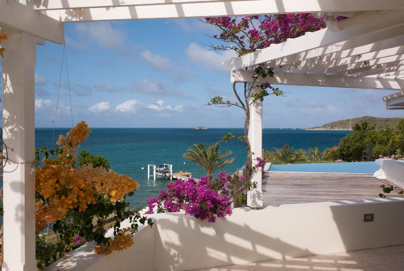 View over Nonsuch Bay towards Green Island - Sea front villa in Nonsuch Bay;  own beach & docks - Antigua - rentals