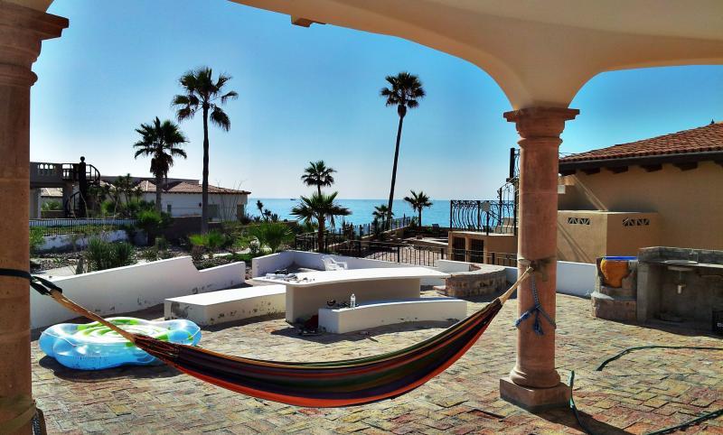 Back patio area view towards ocean. - Exquisite designer home on Sandy Beach Sleeps 12+! - Puerto Penasco - rentals