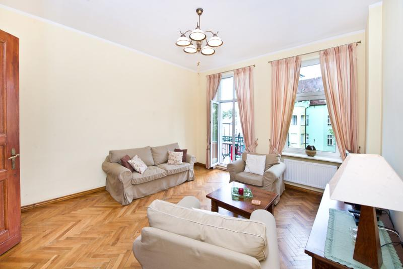 Living room - Sea Breeze' Apartment by the beach and city center - Sopot - rentals