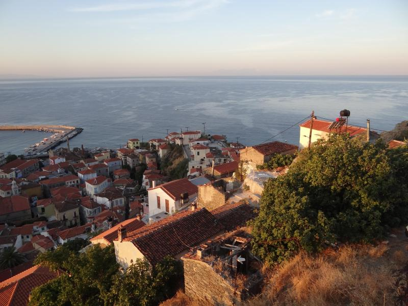 View from the top of the village if you like walking - Greek Village living at its Best - Plomari - rentals