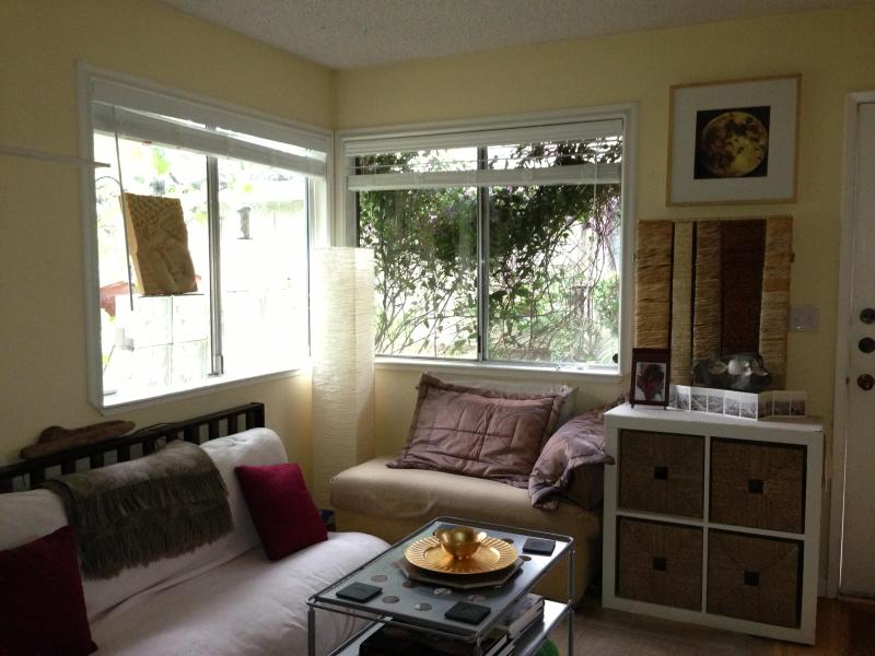 Living Room with futon and pull out for additional quests - $30 off nightly/$350 off weekly this SUMMER - Capitola - rentals