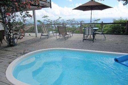 This villa has a main level great room with kitchen, dining area, 2 air-conditioned bedrooms and a l - Inn Paradise  - St John Villa 20% off until 10/31 - Virgin Islands National Park - rentals