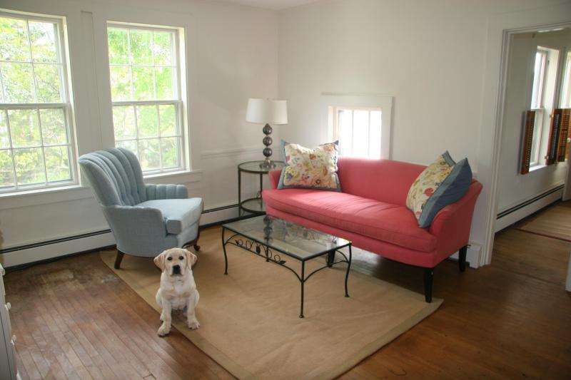 Chickadee living room (puppy not included) - The Chickadee: Cape Porpoise Harbor, Kennebunkport - Kennebunkport - rentals