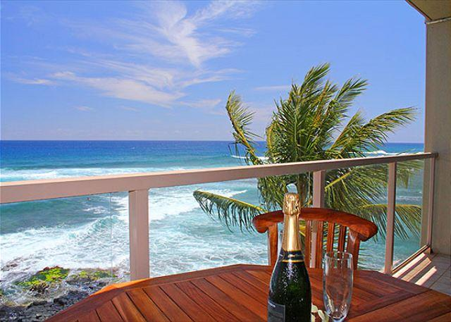 "Welcome to Kuhio Shores #418, Poipu's oceanfront ""Penthouse"" - Sunset & coastline views, snorkel, surf, 2b/2b, oceanfront, Poipu ""Penthouse"" - Poipu - rentals"