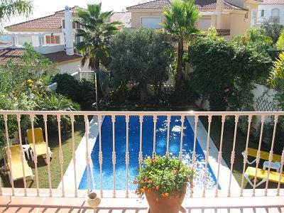Terrace over looking the Swimming Pool - Luxury Villa 4 Bedrooms 4 Bathroom Mountains ,sea - Malaga - rentals