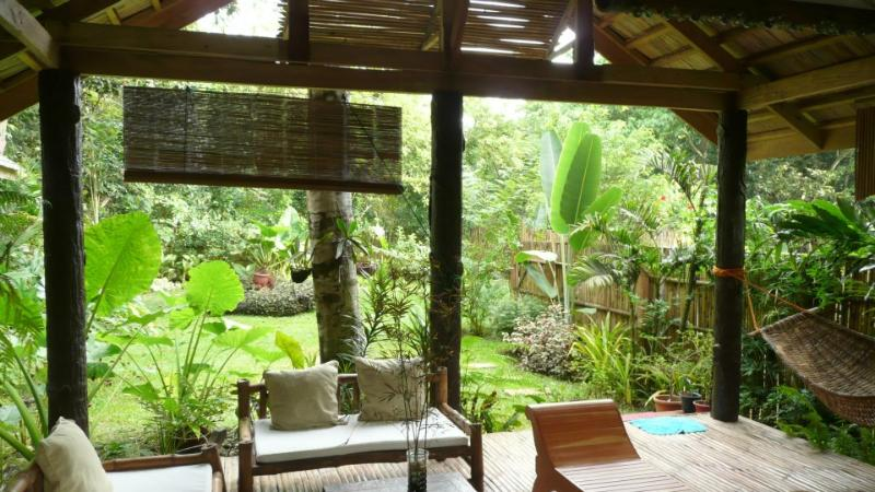 Open lanai living area - Kayuverde Villa #8 in Puerto Princesa - private tropical hideaway - Palawan - rentals