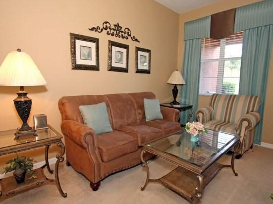 Living Area - RE3T867AC Luxury Home in a Golf and Resort Community - Orlando - rentals