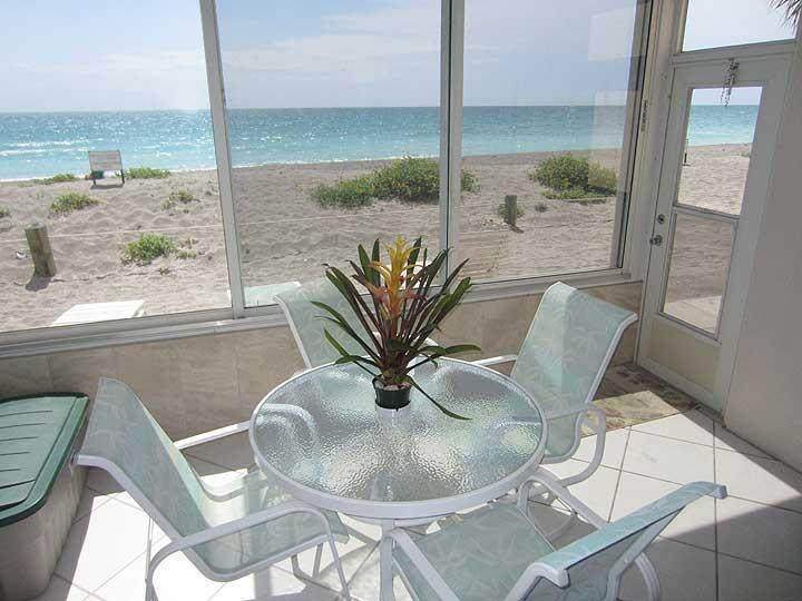 patio - Fishermans Cove A102 - On Turtle Beach on Siesta Key! - Siesta Key - rentals