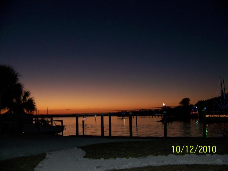 Typical Sunst at the Cut House - Cut House- Waterfront, dock, ocean access, beach - Palmetto - rentals
