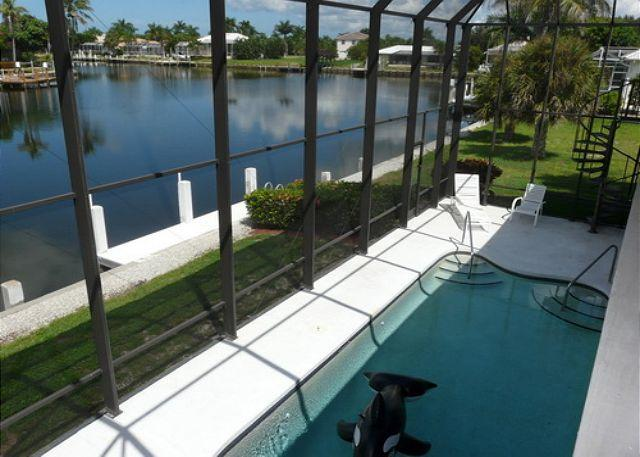 View of Pool from Balcony - 146 North Barfield Drive - Marco Island - rentals