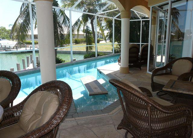Pool and Lanai - 690 Pelican Court - Marco Island - rentals