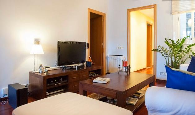 Sitting room and Tv corner - Cosy&confortable spacious central flat + WIFI - Barcelona - rentals