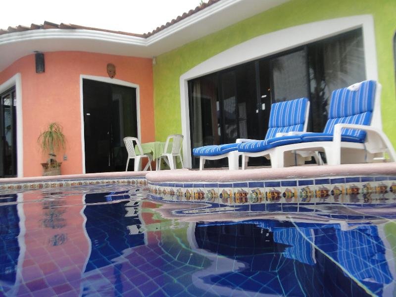pool in front of suite - The waterfront Junior suite - Barra de Navidad - rentals