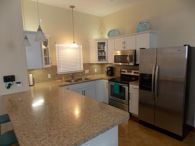 Kitchen - Serenity Now! at Pirates Bay winter Texans welcome - Port Aransas - rentals