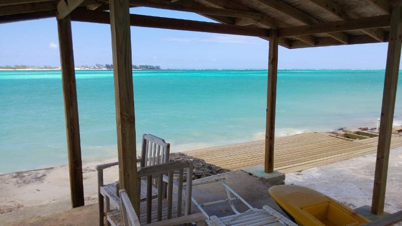 Sit on the deck and marvel at the turquoise waters - Tangerine Sunsets South Coral - Nassau - rentals
