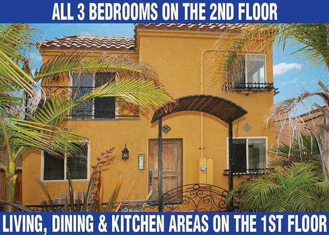 Fabulous stand alone home with great views from private rooftop deck! - Image 1 - Pacific Beach - rentals