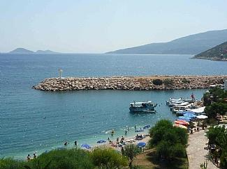 The beautiful sea and beach view from Custom House - Stunning Custom House with panoramic sea views - Kalkan - rentals