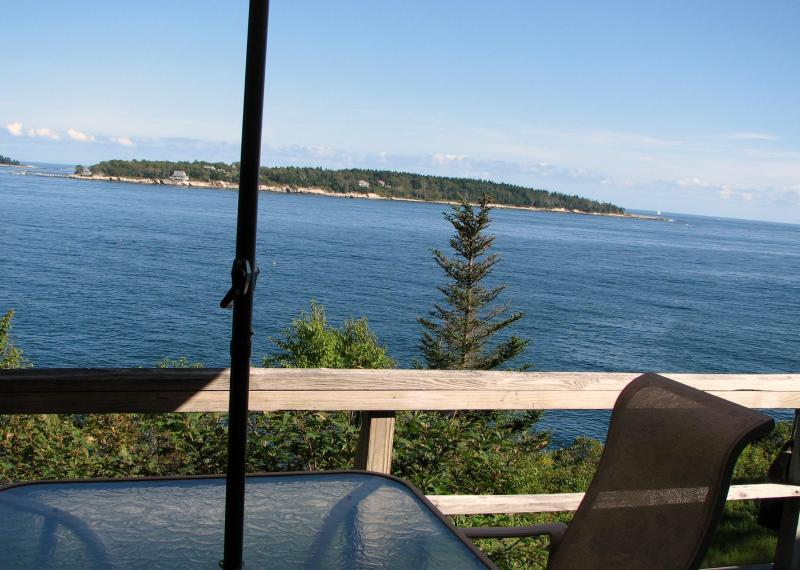 View from deck - Boothbay, Maine, Waterfront Cottage - East Boothbay - rentals